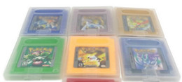 Wholesale Hot Sale English language gameboy cartridges poke gbc games green yellow red silver gold blue for Christmas gift toy