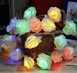 Wholesale Manufacturers selling head LED simulation rose lamp series LED battery box lights Christmas decoration light rose head