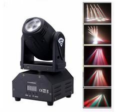 Wholesale Led Disco Spot - led 4IN1 mini led spot moving head light Sound activated Mini Moving Head Light DMX dj effect stage lights ktv bar disco