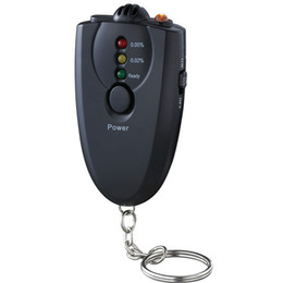 2017 alcool trousseau Gros-100pcs expédition DHL EMS gratuit, Usine de gros Mini 3 LED Keychain d'alcool testeur d'haleine ivressomètre avec boîte de couleur de la torche alcool trousseau offres