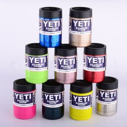 Wholesale In stock oz Yeti Vacuum Insulated Rambler Colster Insulated Cup Mug Stainless Steel Drink Holder Insulated Koozie