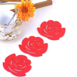 Felting coasters, a variety of styles of color, furniture decoration coffee cups, cups, red wine coasters.