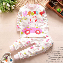 2016 children cotton underwear - shoulder button suit and long johns Tong Baobao infant underwear cute cartoon pattern