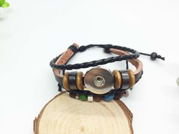 Penghuajun2.5 wholesale Snap Bracelet&Bangles High quality leather Bracelets fit 18mm DIY Rivca Snaps Button Jewelry