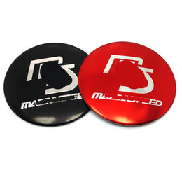 Wholesale Aluminium Alloy MS Mazdaspeed Car Wheel Center Hup Cap Emblem Stickers for MAZDA RX8 RX MX5 MX MIATA Decoration