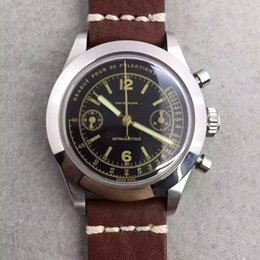 VINTAGE chronograph 7750 automatic 40mm men watch chronographe sapphire wristwatch chrono stop watches water resistant