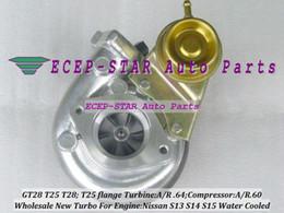 T25T28 T25 28 T25 T28 Turbo Turbocharger For NISSAN Silvia Bluebird S13 S14 S15 1.8L 2.0L Com A R .60;Turbine A R .64 T25 Flange
