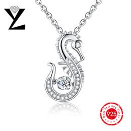 Wholesale Personalized Sea Horse Sterling Silver Jewelry Women Pendant Ocean Series Designer Dancing CZ Diamond Pendant for Best Friend Gift NP47430A