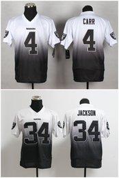 Wholesale 2016 Raiders Men s Drift Fashion II Elite Football Jerseys Black White CARR JACKSON High Quality Price Stitched Wear