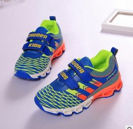 Wholesale Quality new kids shoes school Girls boys Sports track breathable functional mesh shoes Lightweight athletic outdoor blue red gray