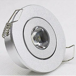 Wholesale 10pcs mini W LED Downlight silver shell ceiling Cupboard light W spot lights led lamp downlights V V Counter lamps