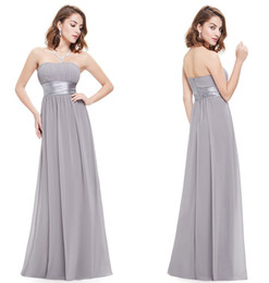 Wholesale Evening Dresses Ever Pretty HE09955 Strapless Ruched Bust Black Chiffon Long New Arrival Vestido Evening Dresses