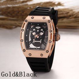 Wholesale Luxury brand Fashion Skeleton Watches men Skull sport quartz watch