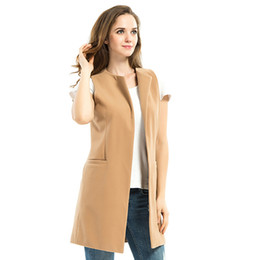 2016 new spring sleeveless vest vest Korean slim suit jacket in the spring and autumn long vest