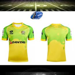 Wholesale Size S XXXL Australia rugby jerser NEW Zealand Australian rugby jersey Top Thailand quality A Australia rugby shirt