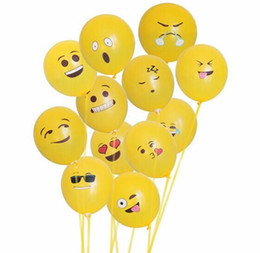 adorable yellow emoji ballons 12 inches birthday Halloween party Christmas party adult kids party decoration ballute airballon