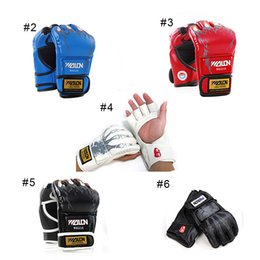 Wholesale New Grappling MMA Gloves PU Boxing Punching PU Gloves Sanda Fighting Gloves UFC Half Finger Gloves New Arrival