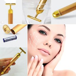 Wholesale Technology From Japan K Gold Face Skin Massage Roller Body Firming Massager Electric Energy Beauty Bar