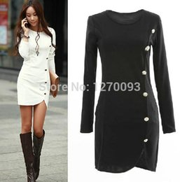 2016 Spring Autumn Warm Dress Women Cotton Bottomed Winter Dress Ladies Evening Clothes Party gown Long Sleeve Button Casual Women Dress