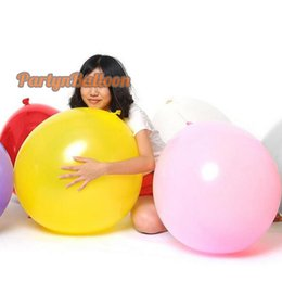 Wholesale Giant Round Wedding Birthday Party Balloon Inch CM Flat Big Luft FT Decorate Balloon