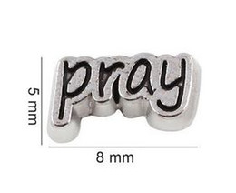 20PCS lot Pray Letter Floating Locket Charms Fit For Glass Magnetic Memory Floating Locket Pendant Jewelrys Making