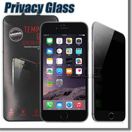 Wholesale For Iphone Privacy Screen Protector Shield Anti Spy Real Tempered Glass For Iphone S Plus Galaxy S6 With Retail Package