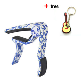 Best Selling Handed Acoustic Guitar Capo Perfect For Guitar,Ukulele,Banjo,Mandolin -Blue And White Porcelain
