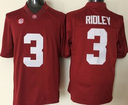 Wholesale 3 Ridley JK Scott Alabama Crimson Tide College Football Jerseys New Style Cheap Stitched Jersey Embroidery logos