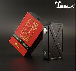 Wholesale E cig Tesla w Invader III box mod w big cloud chasing tesla invader fir batteries in series Tesla original