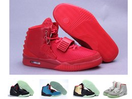 Kanye west 2 mens Basketball Shoes women red Sneakers For sale fashion trainer fish skin size36-47