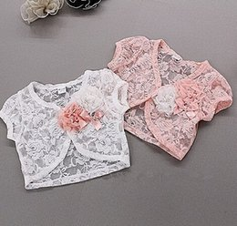 Wholesale-hot sale Free shipping new summer jacket kid's lace coat ,girl flower capelet ,children lace Shawl clothes