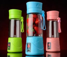 Wholesale Rechargeable ml Juicer Stainless Steel Portable USB Electric Juicer Blender Drink Bottle Smoothie Maker Ice Crusher