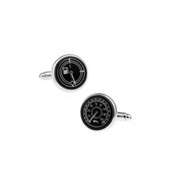 Wholesale Logo Luxury Cars - 2016 New And Fashion Luxury Mens Cufflinks Brand Car Logo Speedometer Unisex French Style Cuff Links For Men