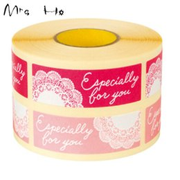 """Sticker Label 5*1.5cm 1200pcs lot Printting """"Especially For You"""" Korean Style Label Design Pink&Rose Red Packaging Label PP309"""