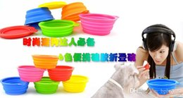 Dogs Cats Pet Bowls Portable Silicone Collapsible Travel Feeding Bowl Water Dish Dog Feeder Wholesale