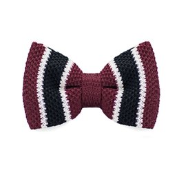 Men's Tuxedo Adjustable Stripe Bow Tie Party Business Casual cotton Bow Tie Gift Box Men's Fashion Accessories F-328
