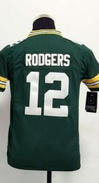 Wholesale 2016 GBP Aaron Rodgers Youth Football Jerseys Best quality Authentic Jersey Size S M L XL Mix Order