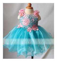 Wholesale Christmas Corset Dress - diamond crystal spaghetti corset organza toddler infant short flower girls pageant party dresses girl's ball gown cupcake