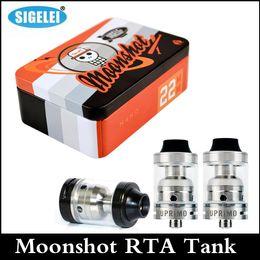 Sigelei Moonshot RTA Tank clone 2.0ml Temperature Control Top filling RTA tank 22mm diameter Spin Deck atomizer Airflow Adjustable atomizer