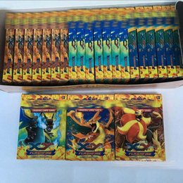 Poke Trading Card Games Newest Edition XY Anime Monsters Pikachu Cards board games Card Toys for Children Kids Free shipping