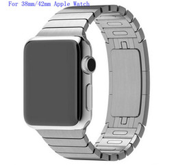 Wholesale band for apple watch link bracelet copy L stainless steel watchband for iwatch mm