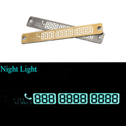 15*2cm Telephone Number Card Temporary Car Parking Card Notification Night Luminous Sucker Plate Card