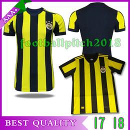 Best Quality 2017 2018 Fenerbahce hone soccer jersey Jerseys V.PERSIE M.TOPAL OZAN TUFAN 17 18 Football shirt uniforms custom Free shipping