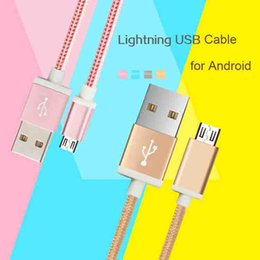 Fast Speed Up Charing Cell Phone Cable for Samsung Andriod Nylon Cell Phone Cable Universal for Andriod Mobile Phone with Retail Package