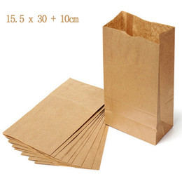 5 pcs Promotional 16x30cm Biodegradable Brown Kraft Cany Bags   Brown Paper Food Packaging   Take Away Food Bags