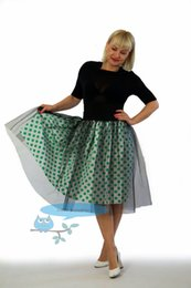 Tutu women knee length skirt summer hot popular girl prom party homecoming skirt can be customized in color and measeurement