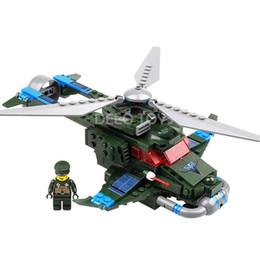 Delo juguetes de plástico de construcción de bloques de auto-ensamblaje de juguetes avión militar juego set regalo de cumpleaños niño sin caja de paquete JJ001950 desde aeroplano juego fabricantes