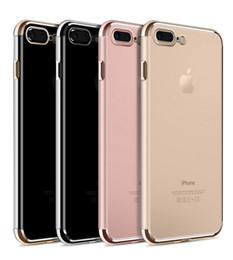 Wholesale NEW Ultra Thin Slim Shockproof Plating Electroplate Soft TPU Silicone Clear Transparent Cover Case For iPhone S Plus inch