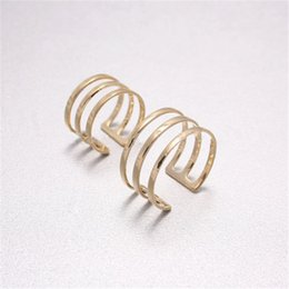 Fashion Open Band Ring & Above The Knuckle Rings 18K Gold plated rings for women wholesale
