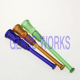 Wholesale glass downstem diffuser smoking downstems color diffusers down steam for water pipe colors all size up18 Female down18 Male shower